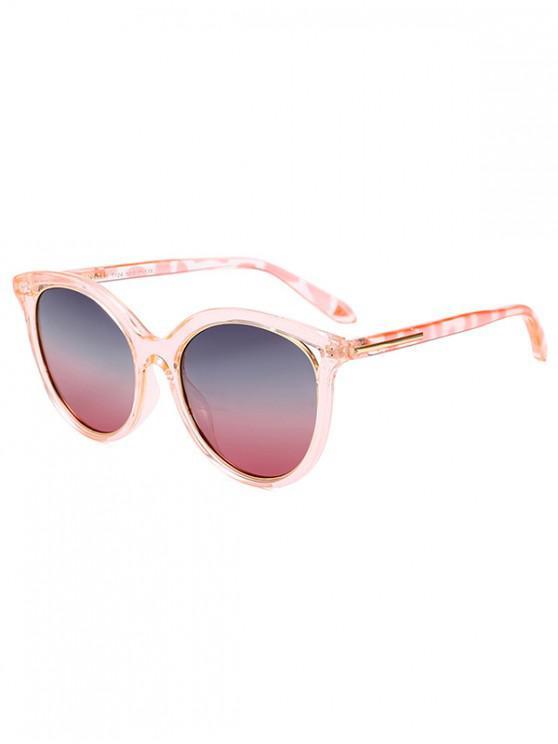 trendy Transparent Rim Polarized Sunglasses - PINK