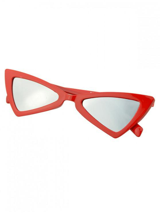 affordable Beach Outdoor Triangle Sunglasses - LAVA RED