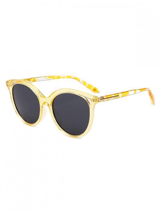 buy Transparent Rim Polarized Sunglasses - YELLOW