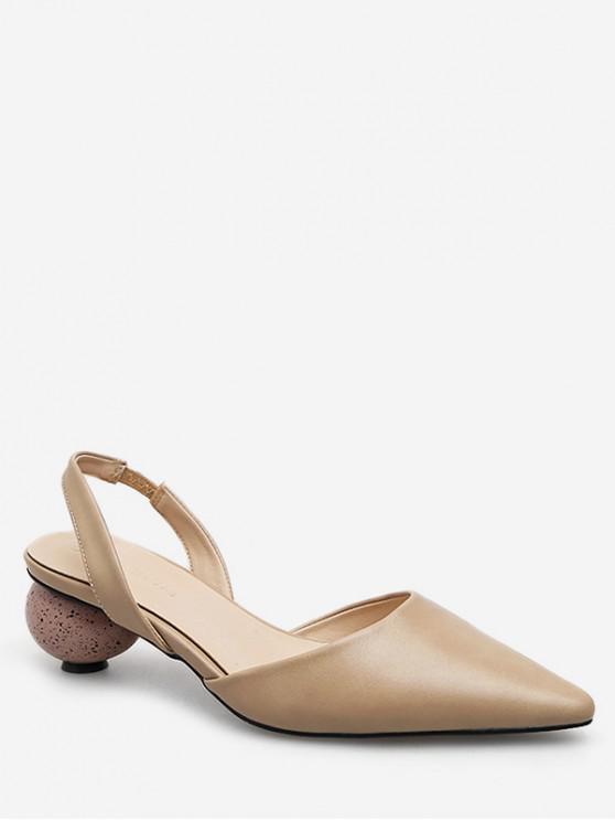 fancy Pointed Toe Strange Heel Slingback Sandals - APRICOT EU 35