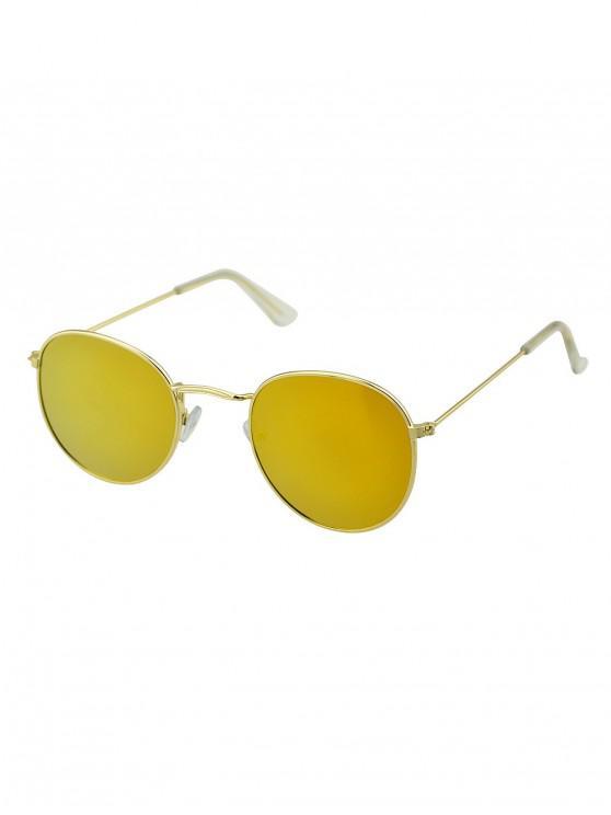 outfit Vintage Metal Frame Sunglasses - ORANGE