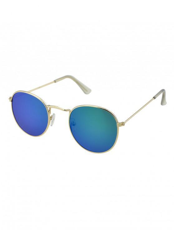 online Vintage Metal Frame Sunglasses - GREEN