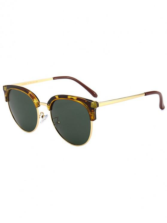 lady Vintage Club Round Sunglasses - LEOPARD