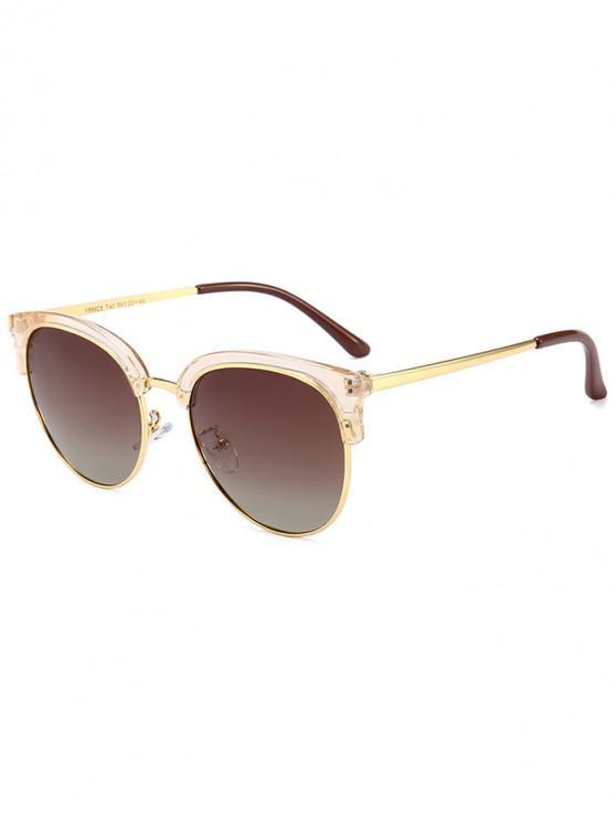 fashion Vintage Club Round Sunglasses - BROWN