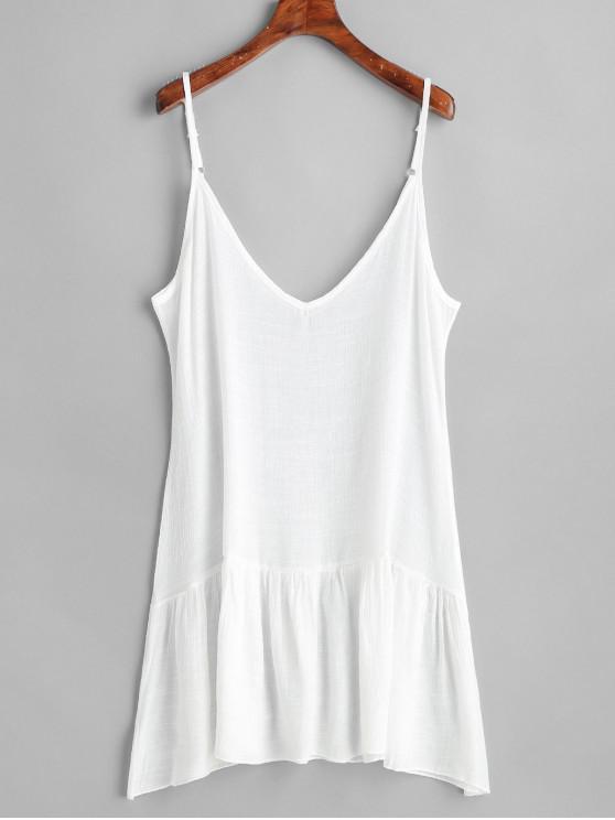 unique Ruffle Beach Sundress - WHITE ONE SIZE