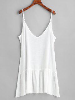 Ruffle Beach Sundress - White