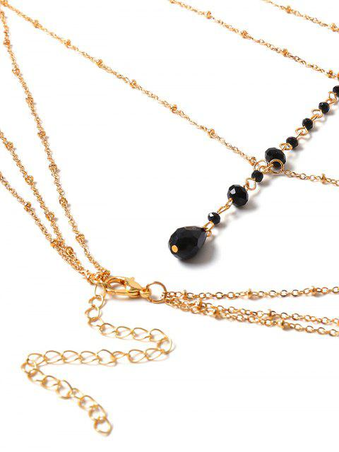chic Simple Beaded Layered Body Chain - GOLD  Mobile