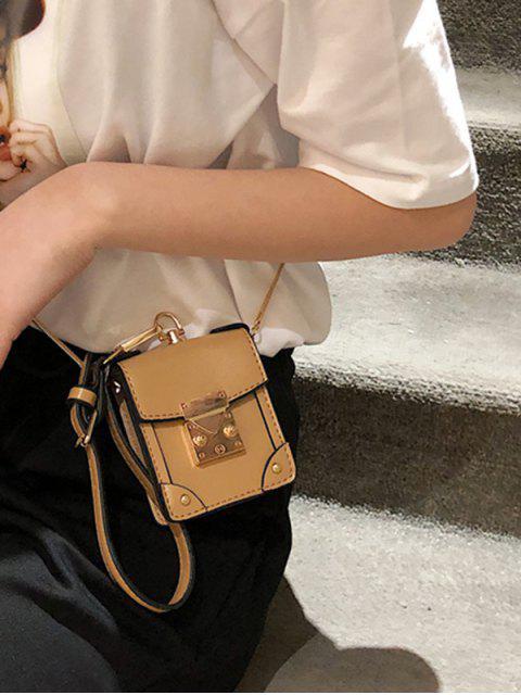 affordable Chain Strap PU Crossbody Bag - KHAKI  Mobile