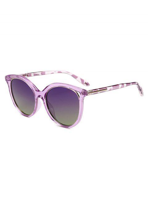 chic Transparent Rim Polarized Sunglasses - PURPLE  Mobile