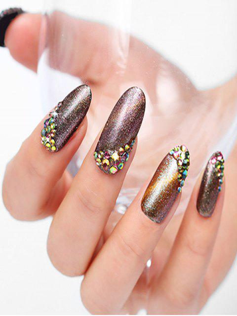 women Colorful Rhinestone Design Nail Decoration - MULTI-A  Mobile