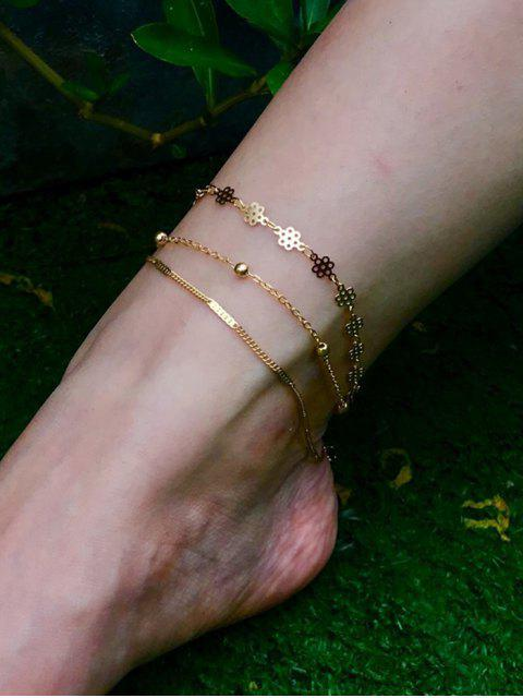 new Simple Multilayered Geometric Beach Anklet - GOLD  Mobile
