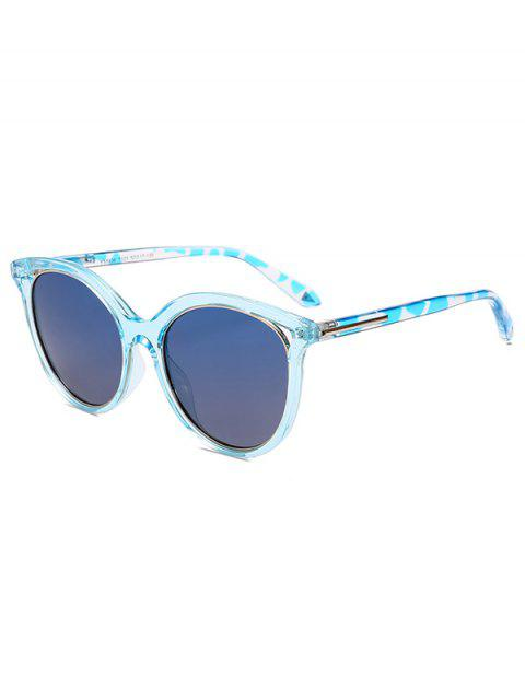 shop Transparent Rim Polarized Sunglasses - BLUE  Mobile