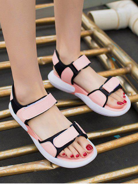 sale Casual Hook Loop Flat Sandals - PINK EU 35 Mobile