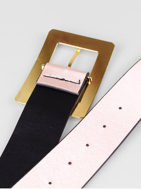outfits Wide Rectangle Buckle Belt - PINK  Mobile