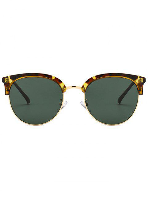 lady Vintage Club Round Sunglasses - LEOPARD  Mobile