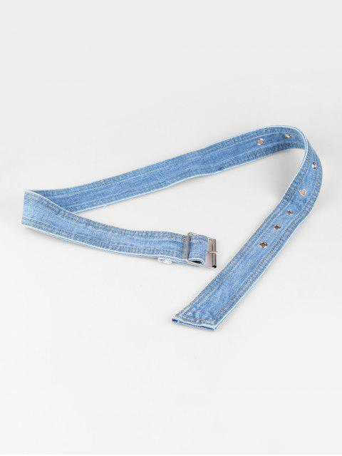 womens Casual Pin Buckle Denim Belt - LIGHT BLUE  Mobile