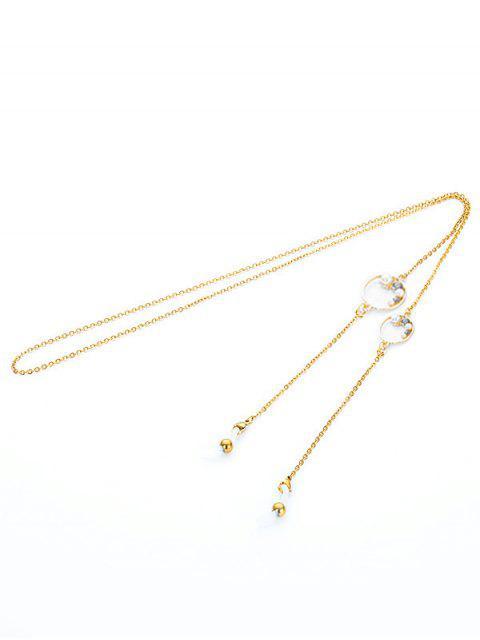 chic Faux Pearl Sunglasses Chain - GRAY  Mobile