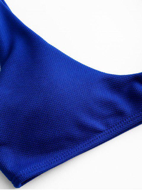 ZAFUL Ensemble de Bikini Débardeur Texturé - Bleu Myrtille M Mobile