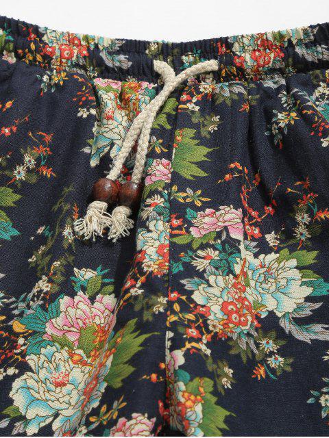 Pantalones cortos con estampado de flores de Allover - Multicolor 2XL Mobile