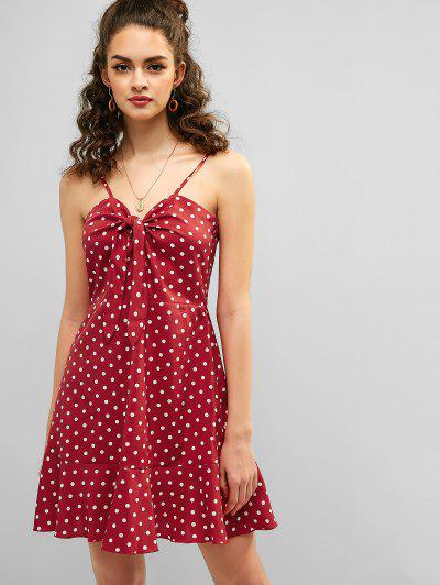 cf2ef3462033b Knot Polka Dot Sundress - Chestnut Red M