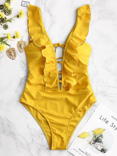Backless Ruffle Swimsuit