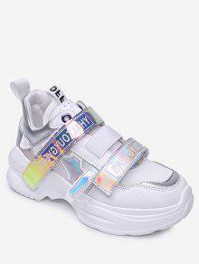 المجسم شبكة الأحذية الرياضية تنفس - أبيض الاتحاد الأوروبي 37
