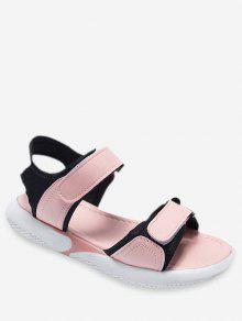 Sandalias Pink De Gancho Casual Planas Black White l3TFK1Jc