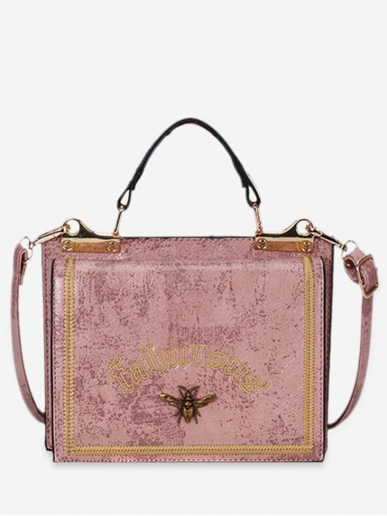 buy Retro Square Mini Tote Bag - PINK