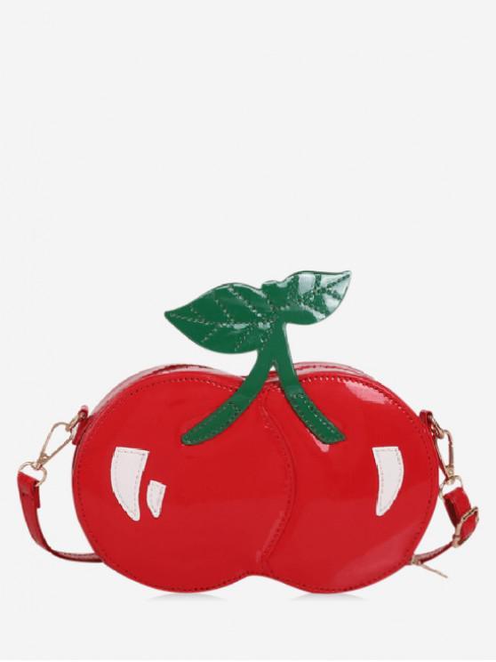 unique Stylish Cherry Pattern Fruit Shoulder Bag - RED