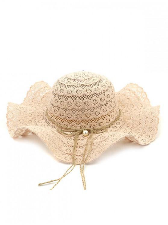 hot Flouncing Lace Decoration Bucket Hat - PIG PINK