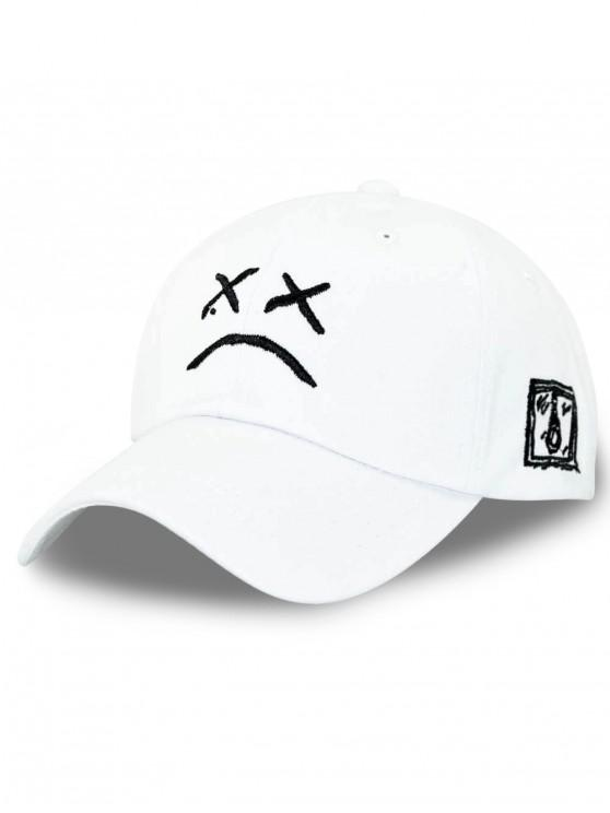 fancy Embroidery Decoration Baseball Cap - WHITE