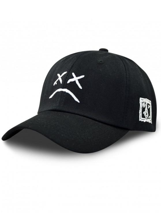 affordable Embroidery Decoration Baseball Cap - BLACK