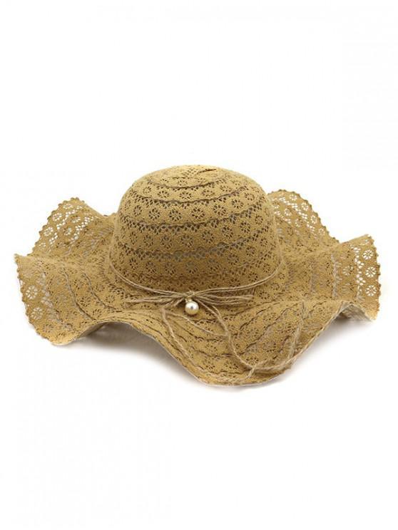 online Flouncing Lace Decoration Bucket Hat - CARAMEL