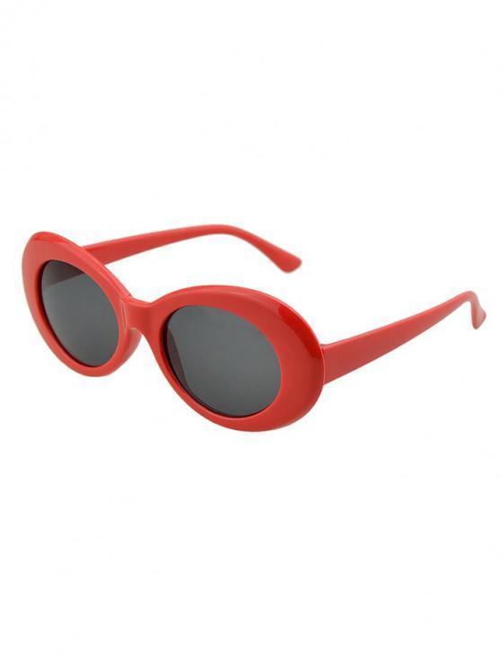 new Round Wide Rim Beach Sunglasses - LAVA RED
