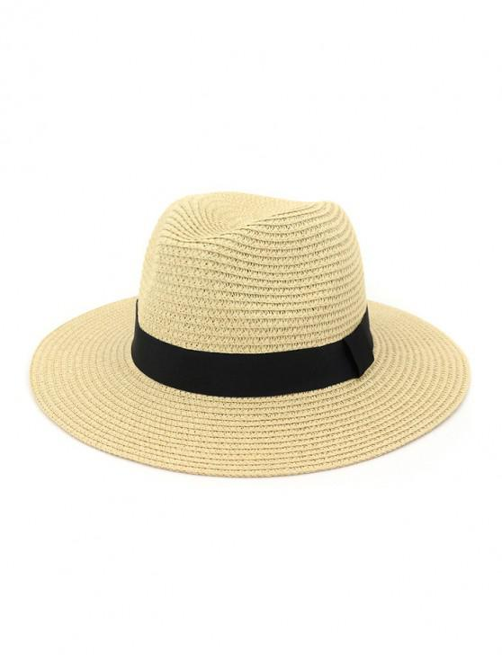 hot Casual Straw Woven Hat - BEIGE