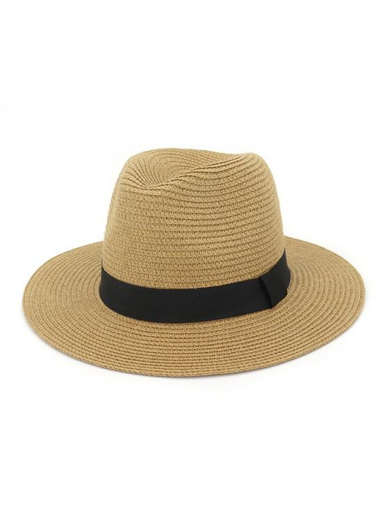 trendy Casual Straw Woven Hat - CARAMEL
