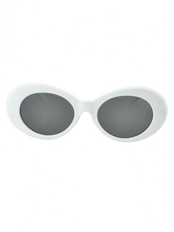 fashion Round Wide Rim Beach Sunglasses - GRAY GOOSE