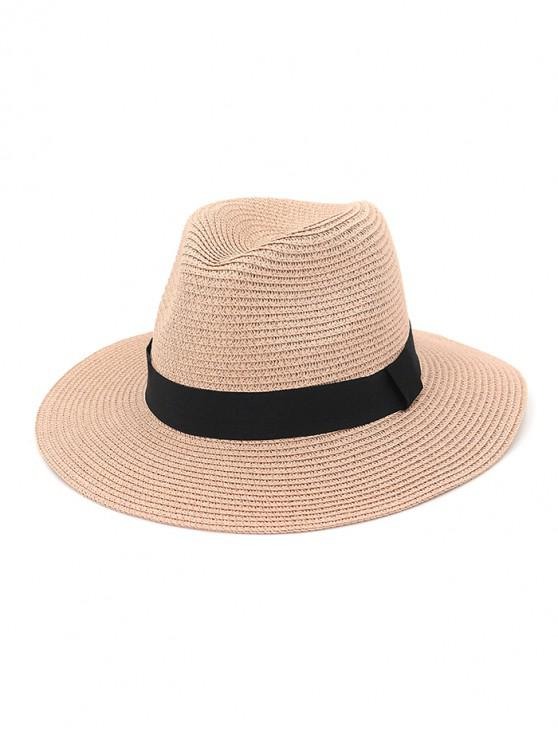 ladies Casual Straw Woven Hat - PINK