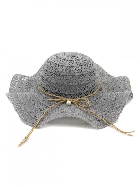 best Flouncing Lace Decoration Bucket Hat - GRAY