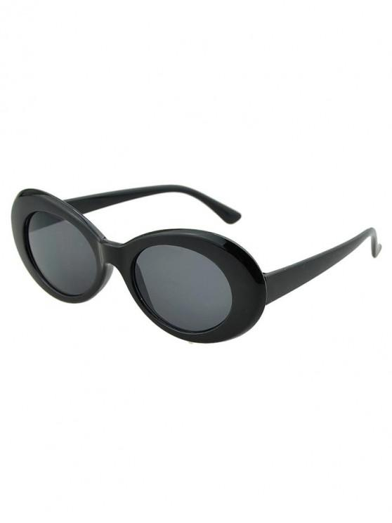 online Round Wide Rim Beach Sunglasses - ASH GRAY