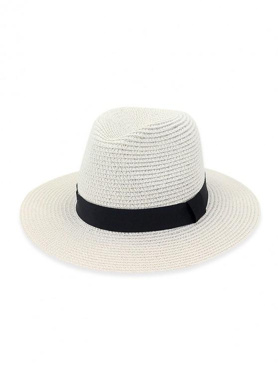 hot Casual Straw Woven Hat - WHITE