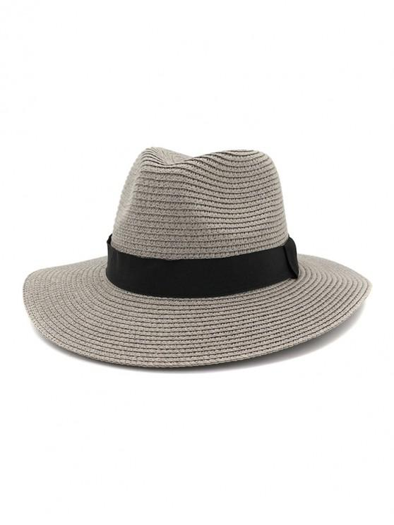 outfits Casual Straw Woven Hat - GRAY