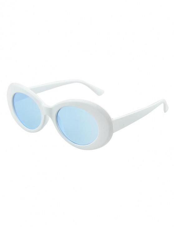 latest Round Wide Rim Beach Sunglasses - BLUE IVY
