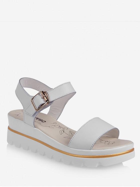 shop Leisure Breathable Platform Sandals - WHITE EU 39