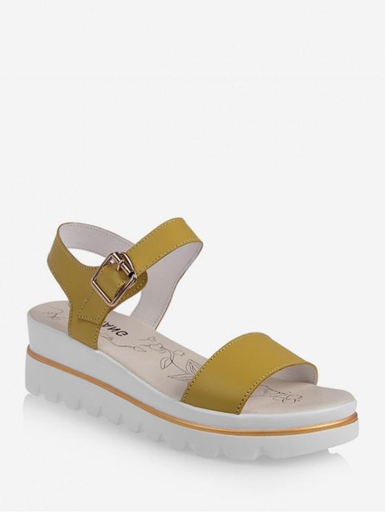 ladies Leisure Breathable Platform Sandals - GOLDENROD EU 37