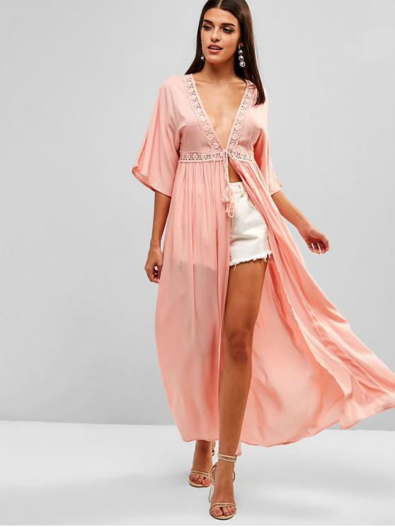 affordable Beach Cover Long Dress - ORANGE PINK M
