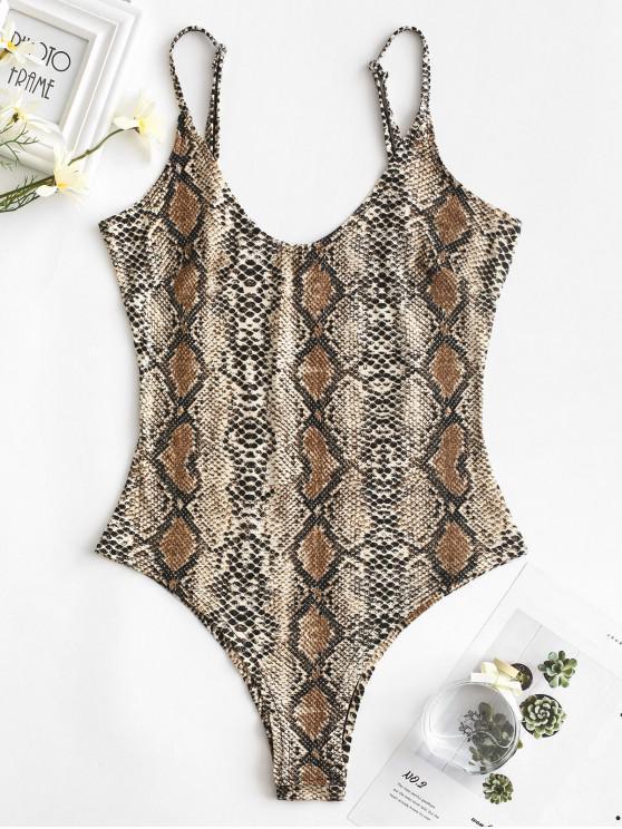 shop Snakeskin Cami Bodysuit - MULTI-A L