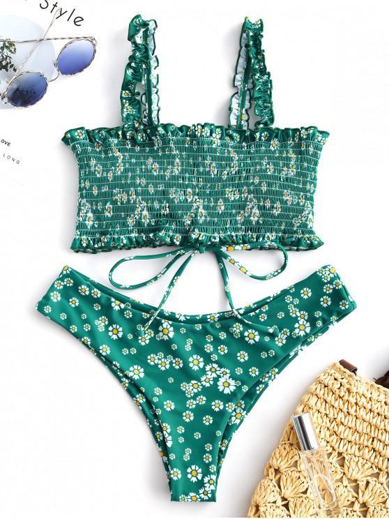 Bikini con lacci smerigliati floreali ZAFUL - Multi Colori-A S