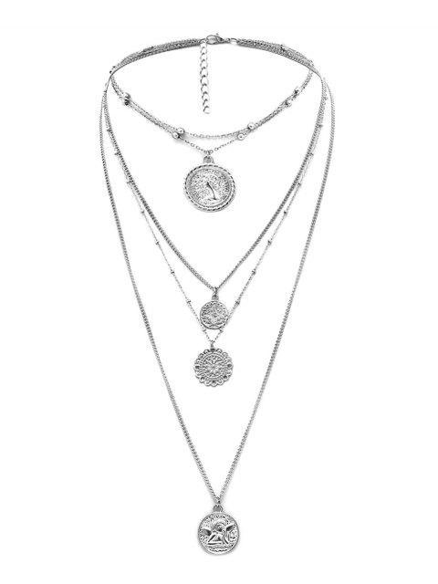 Hauptportrait- Geschichtete Halskette - Silber  Mobile