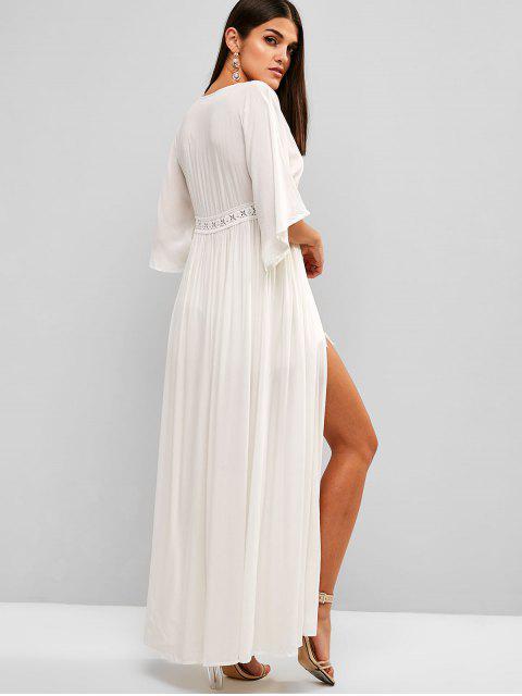 sale Beach Cover Long Dress - WHITE L Mobile